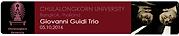Giovanni Guidi Trio - Bangkok, Thailand