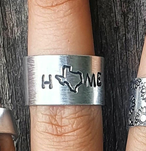 """""""HOME"""" Ring w/ Texas"""