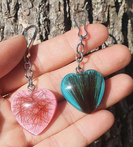 Horsehair Heart Shaped Keychain