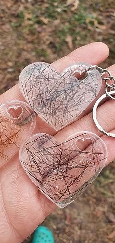 Heart Horse Horsehair Keychain