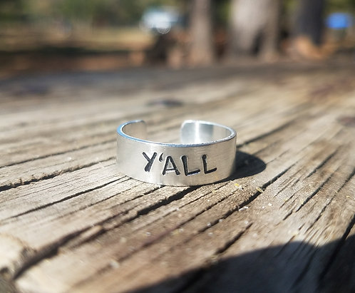 """""""Y'ALL"""" Ring (Sizes 4-7)"""