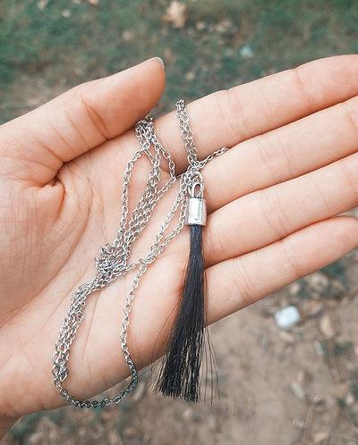 Long Necklace w/ Horsehair Tassel