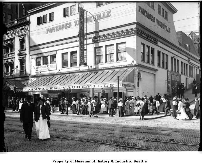Pantages theatre at 2nd & Seneca Circa 1909