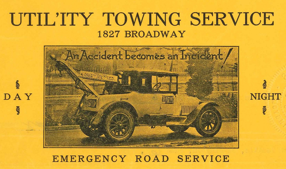 Utility Towing letterhead. Seattle Municipal Archives.