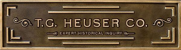T.G. Heuser Company bronze desktop plaque