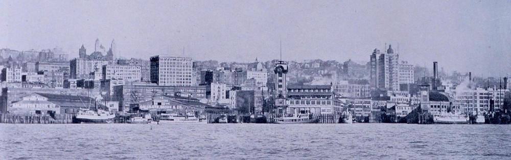 Seattle waterfront 1912.  Image: National Oceanic and Atmospheric Administration.