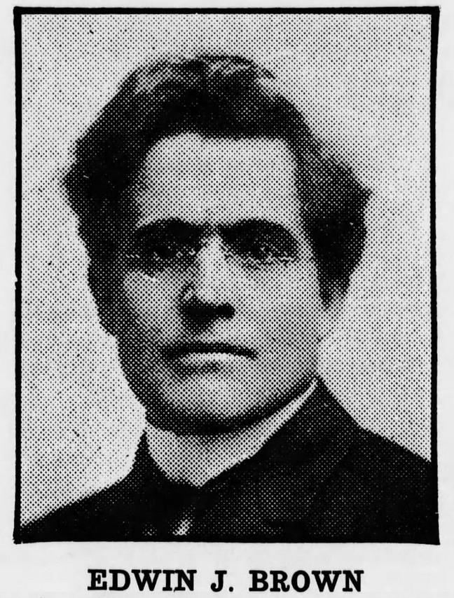 Edwin Brown c1918, Cayton's Weekly