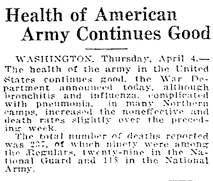 1918-04-04 Seattle Times - Health of Ame