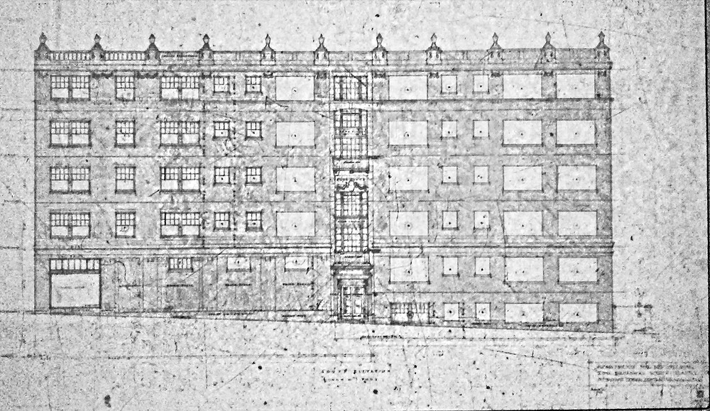 Howard Riley's drawing of the west facade. Image: Seattle DCI