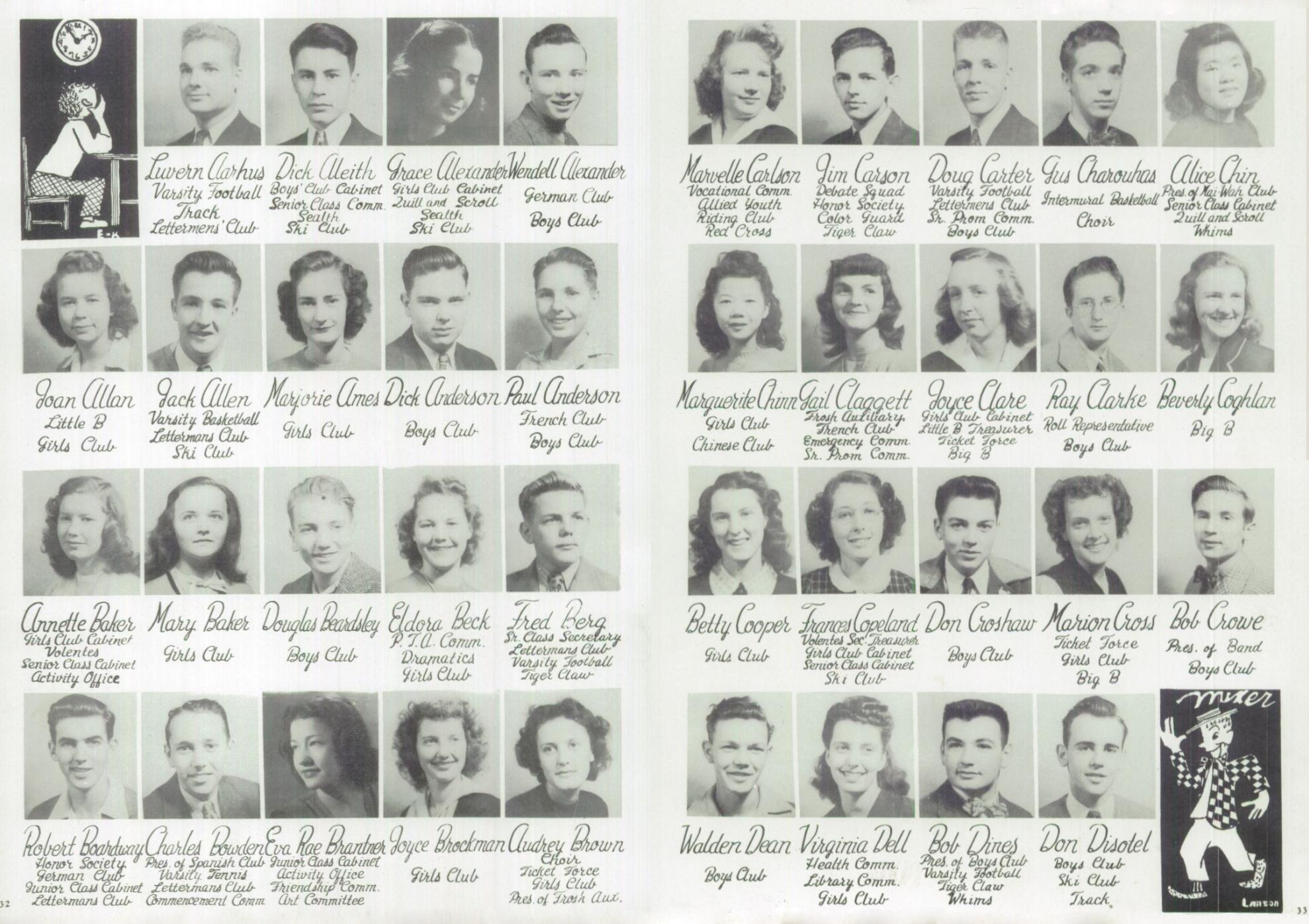 1946 Broadway High School Yearbook - Senior Portraits - 1