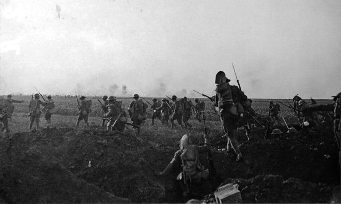 Photo of the Battle of Cantigney. May 28, 1918.