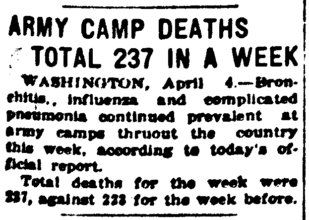 1918-04-04 Seattle Star - Army Camp Deat