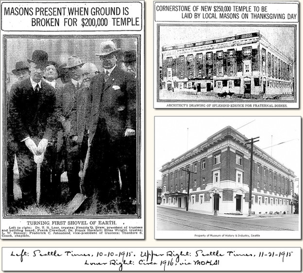 Ceremonial Laying of The Cornerstone For The Capitol Hill Masonic Temple: Thanksgiving Day 1915.