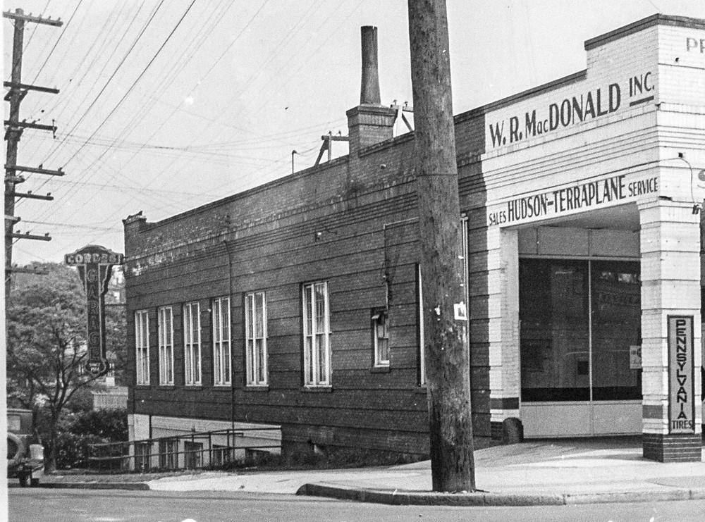Cordes Garage at 1831 Nagle Place. Circa 1937. Washington State Archives.