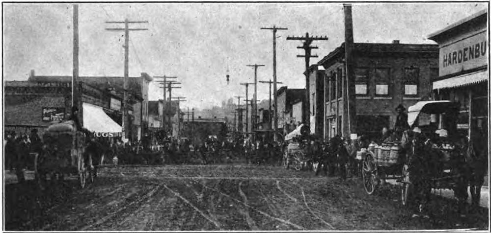 Main Street Auburn, WA from a 1909 issue of The Coast magazine. Image: Hathi Trust.