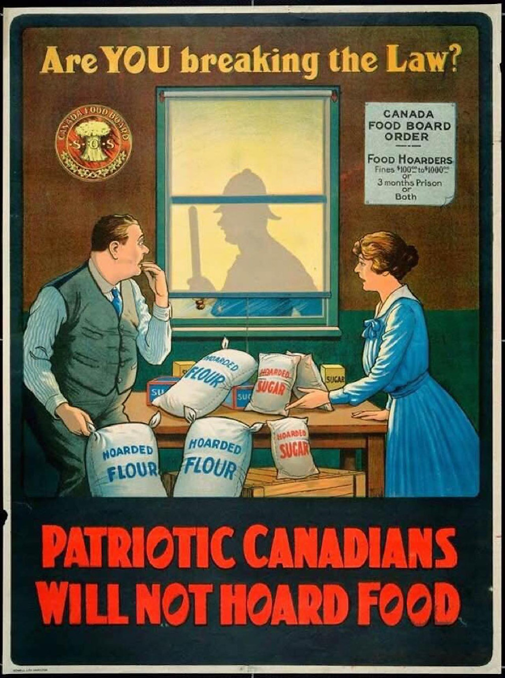 Canadian Food Board poster, 1918