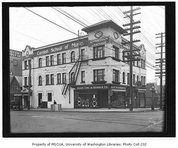Booth Building, circa 1914-1921. Image: University of Washington Special Collections