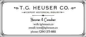 Business card with contact information