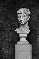 Marble bust of Roman poet Virgil