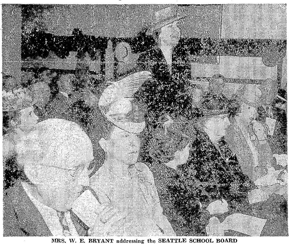 Broadway High School closure debate. June 7, 1946.  Image: Seattle Times
