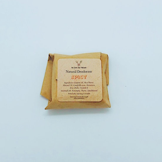 natural solid deoderant bar - Spicy biodegradable