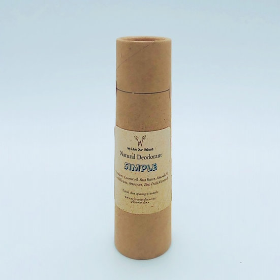 natural deoderant stick for armpits- simple biodegradable