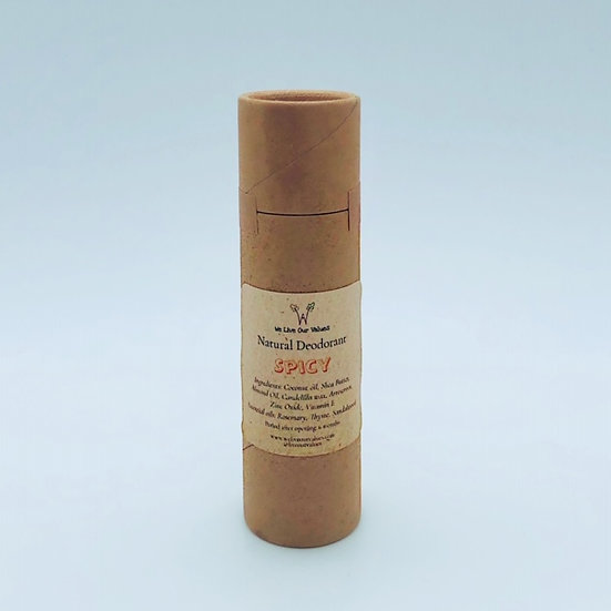 natural deoderant stick for armpits - spicy biodegradable