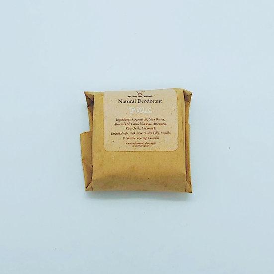natural solid deoderant bar- talc biodegradable