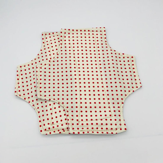 reusable washable cotton panty liners small red polka dots