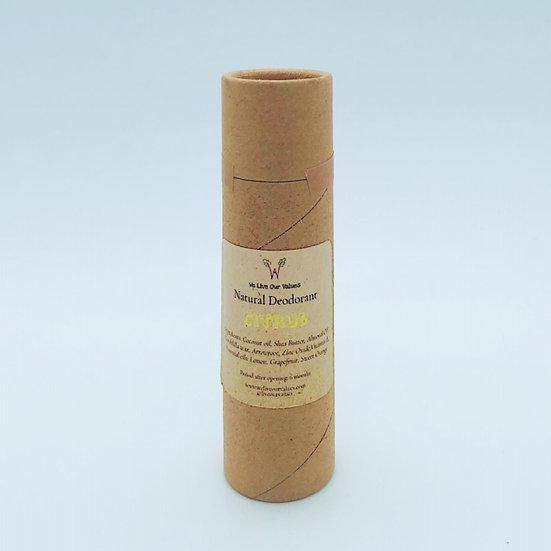 natural deoderant stick for armpits - citrus biodegradable