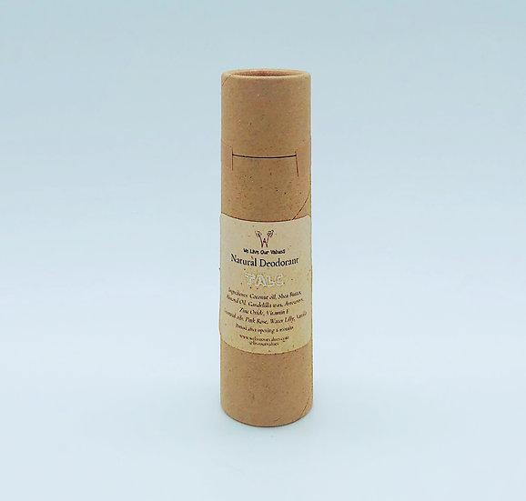 natural deoderant stick for armpits - talc biodegradable