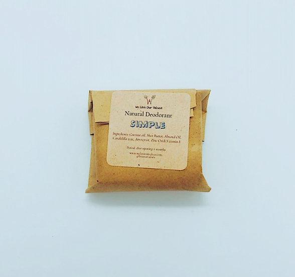 natural solid deoderant bar - simple biodegradable
