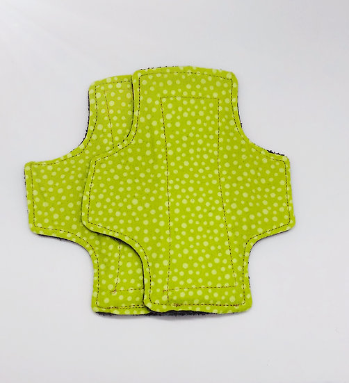 brushed cotton green dotted light panty liner reusable washable