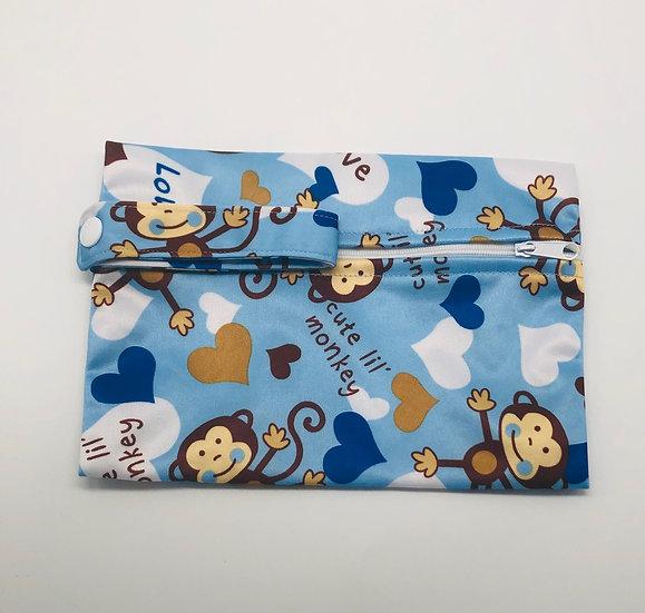 Small Wet Bag Blue monkeys