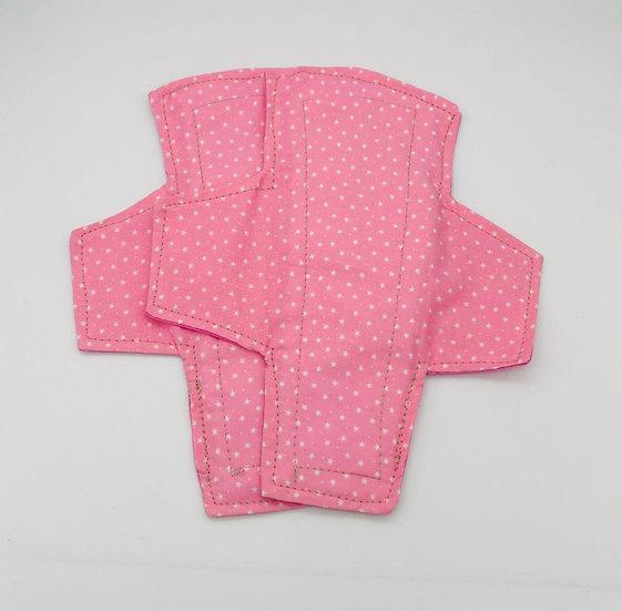 reusable washable cotton panty liners pink polka dots ray pair