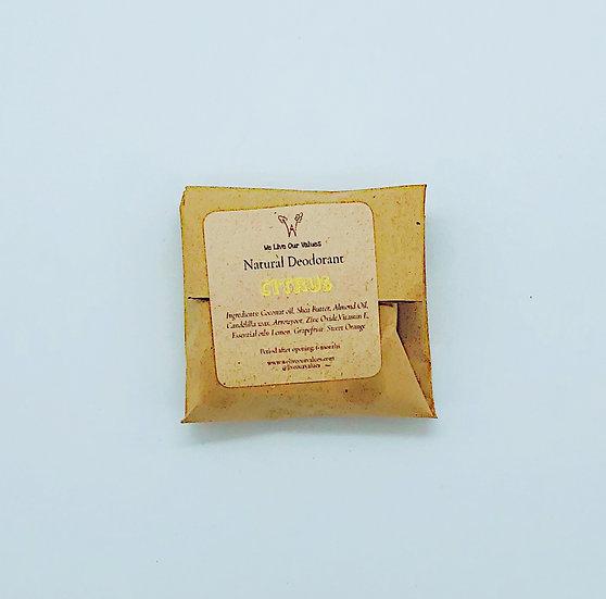 natural solid deoderant bar - citrus biodegradable