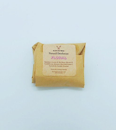 natural solid deoderant bar - Floral biodegradable