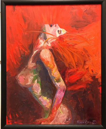 LADY IN RED  75x65