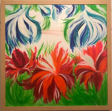 SPRING FLOWERS 110x110
