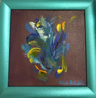 LITTLE BLUE FLOWER 18x18