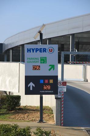 Signalétique dynamique parking