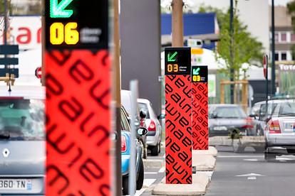 Jalonnement dynamique parking