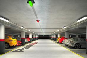 Guidage à la place parking souterrain