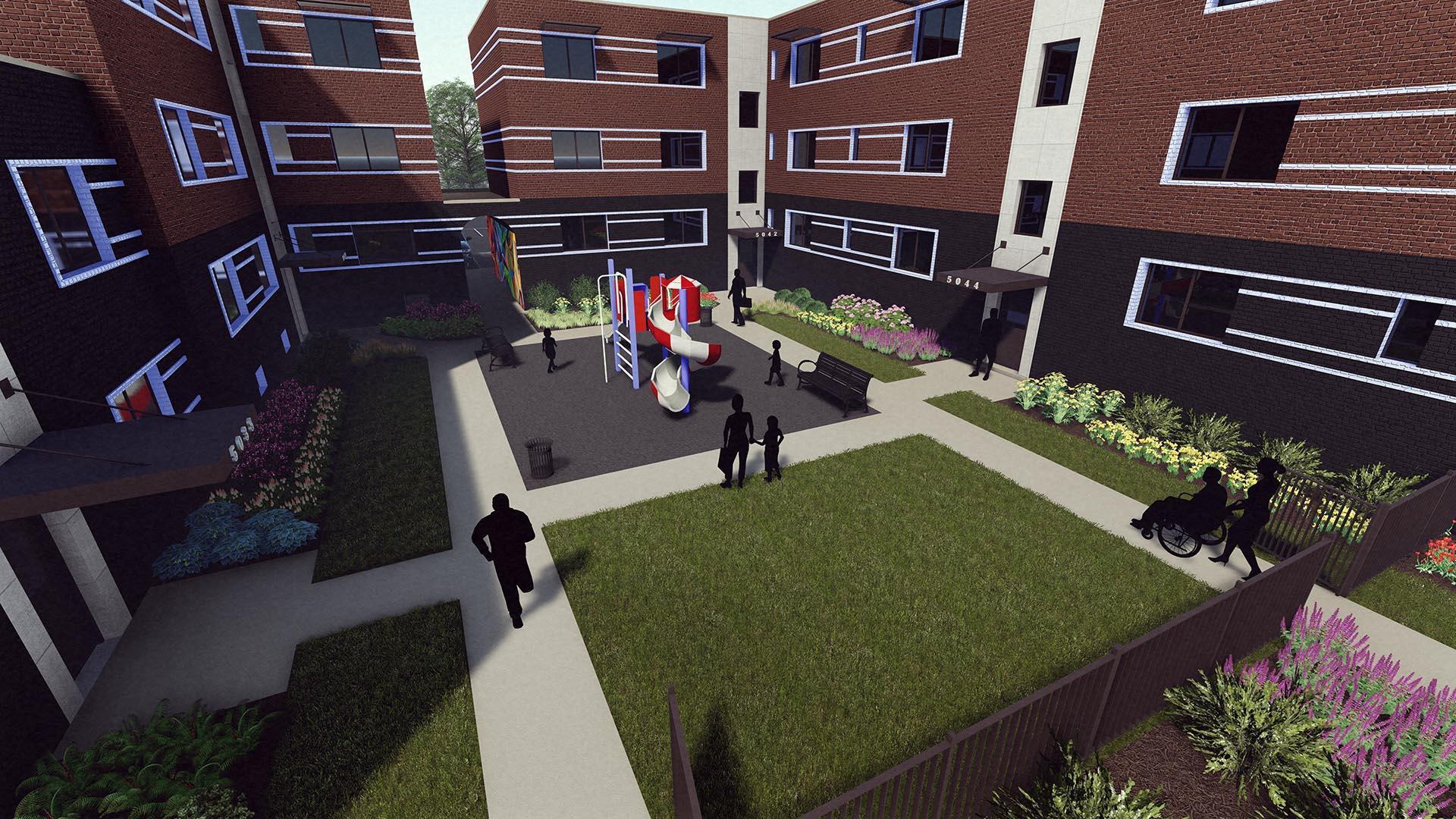 PMA courtyard
