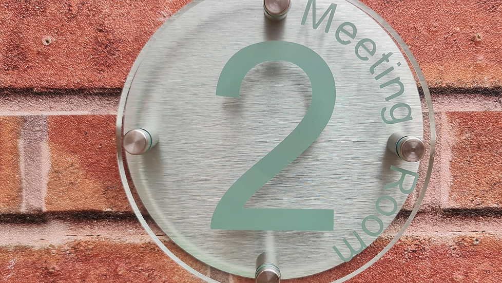 Circular Home/Office Number/Name Plaque