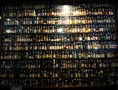 Mini Liquor Bottle Wall