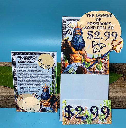 Poseidon's Sand Dollar Postcard (100 pcs)