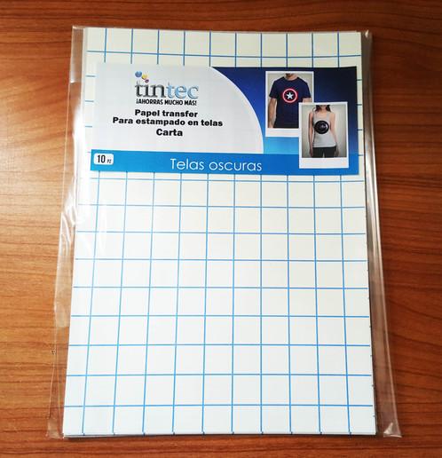 Papel transfer 10 hojas c u tintec sistemas de tinta y - Papel de transferencia para plancha ...