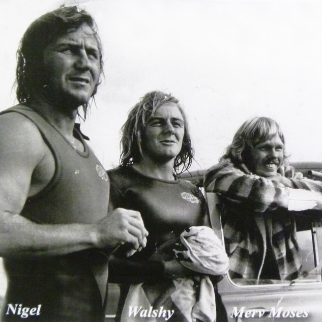Nigel, Walshy, Merv Moses.