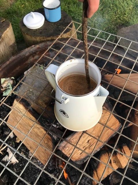 Making Cowboy Coffee